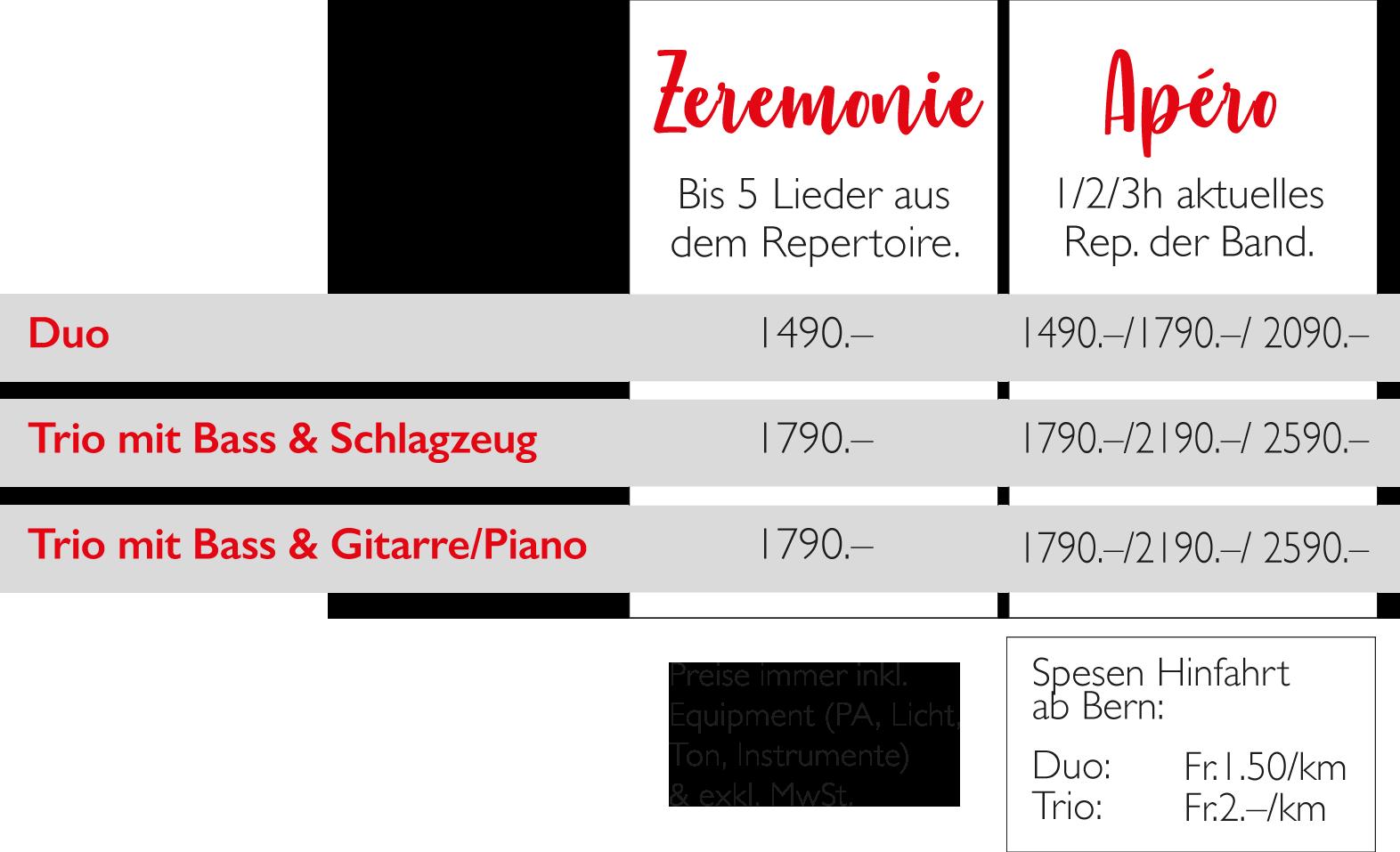 Hochzeit Saxofonist Preise Apéro und Trauung