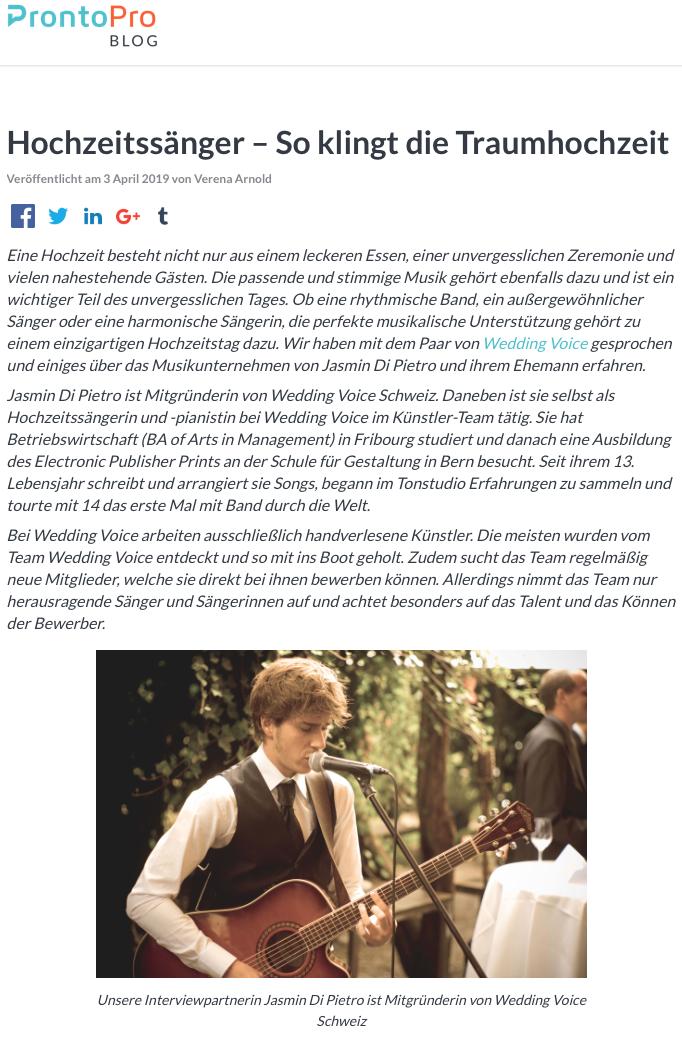 Hochzeit Blog Schweiz ProtoPro